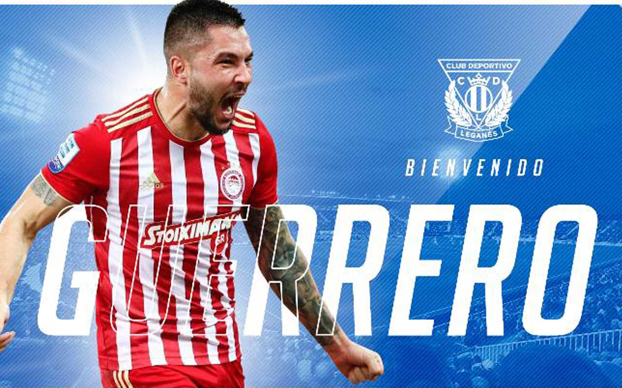 Foto de Miguel Ángel Guerrero, nuevo jugador del Club Deportivo Leganés