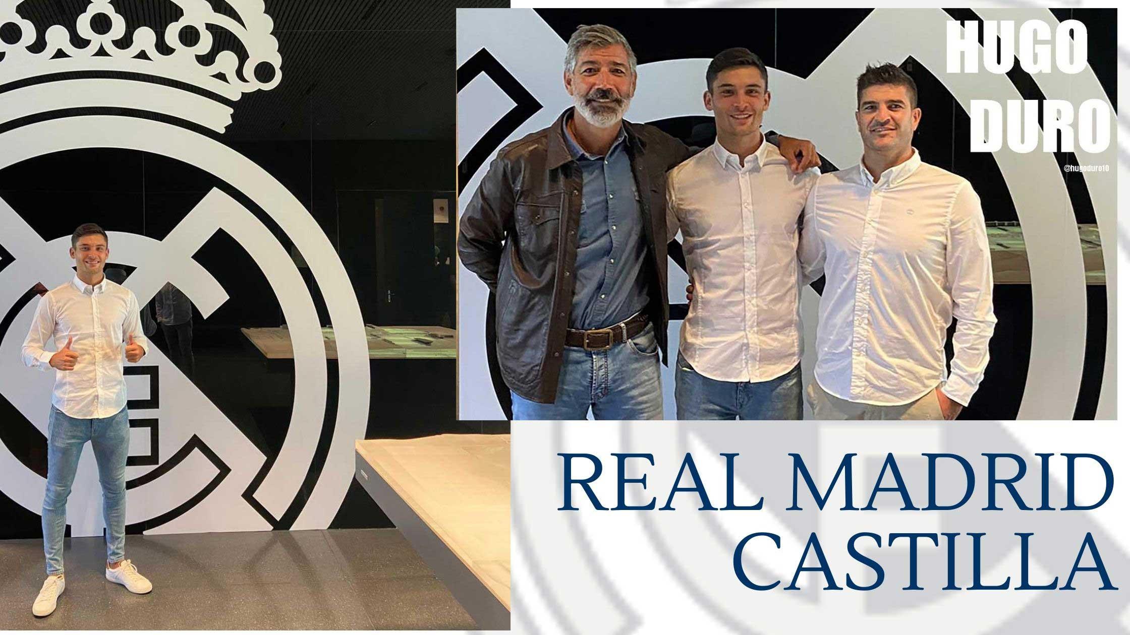 Imagen de Hugo Duro en el Real Madrid Castilla, Mesas Sport