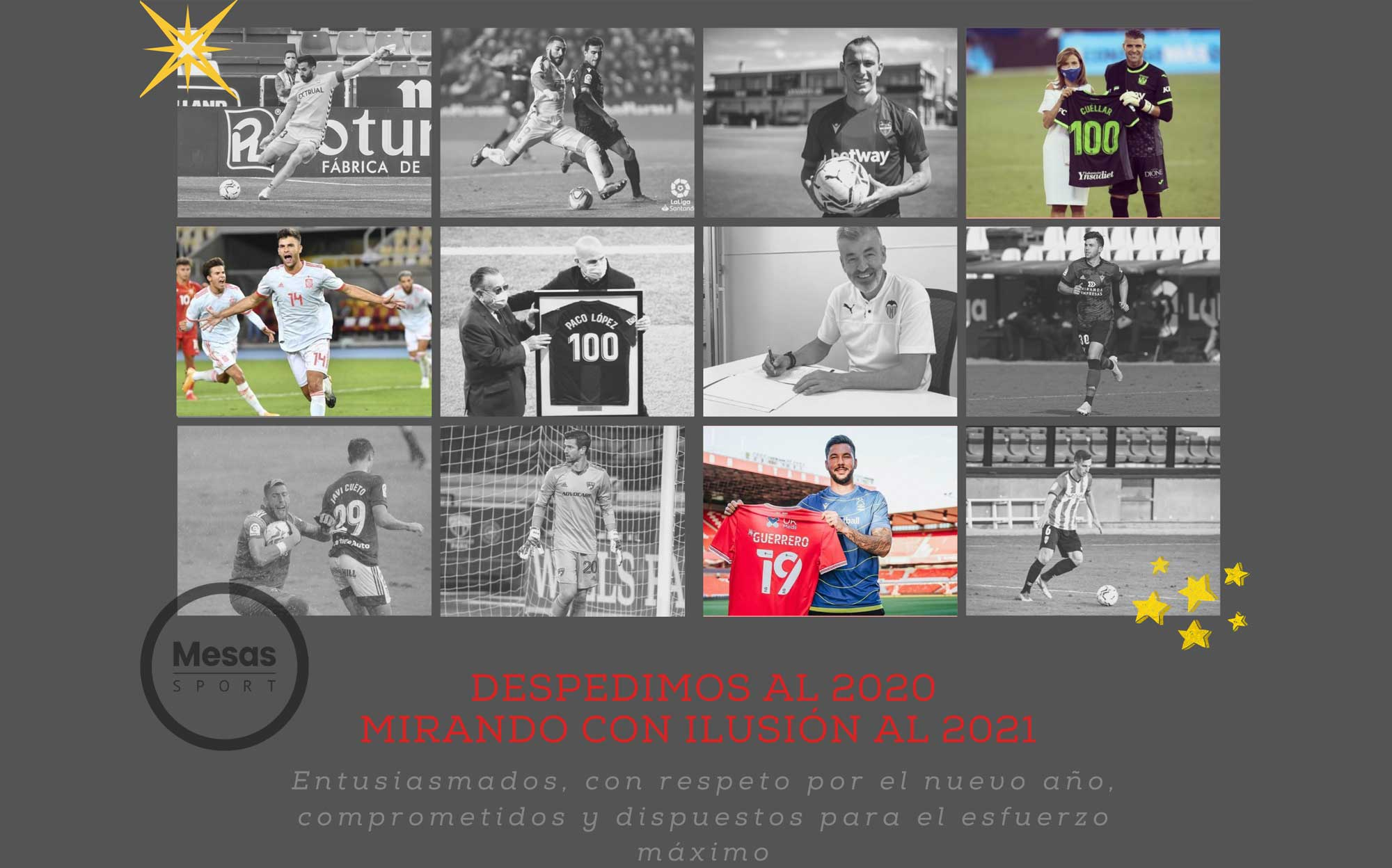 Imagen resumen del año 2020 Mesas Sport