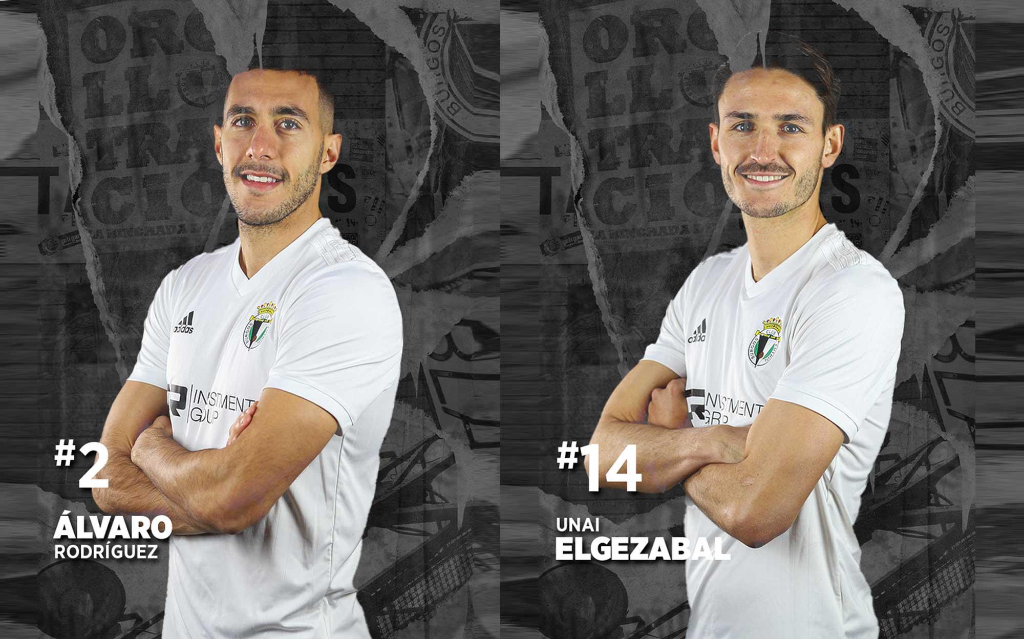 Imagen de Unai Elgezabal y Álvaro Rodríguez en el Burgos CF