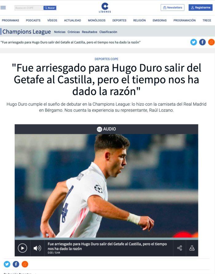 Imagen de la entrevista a Raúl Lozano sobre Hugo Duro